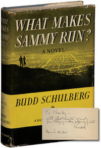image of What Makes Sammy Run (First Edition, inscribed to a fellow screenwriter in 1941)