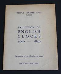 """image of Exhibition Catalogue of """"Exhibition of English Clocks 1600-1850"""" September 3 to October 9, 1949; at Temple Newsham House, Leeds"""