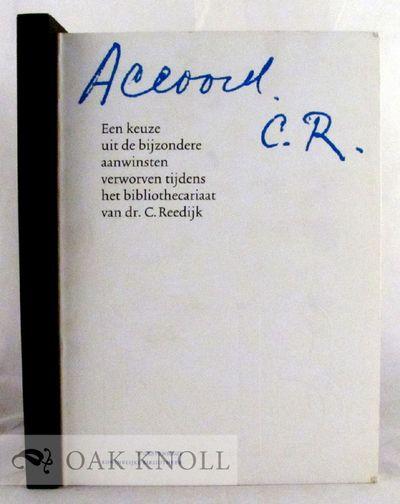 's-Gravenhage: Koninklijke Bibliotheek, 1986. stiff paper wrappers. Reedijk, C.. tall 8vo. stiff pap...