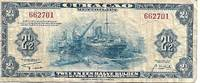 image of Curacao (Netherland Antilles) 2½ Gulden Banknote 1942 VG+ Condition