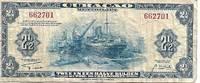Curacao (Netherland Antilles) 2½ Gulden Banknote 1942 VG+ Condition