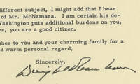 President Dwight D. Eisenhower's Valedictory to Henry Ford II, President of the Ford Motor Company In the waning days of his presidency, he expresses his heart-felt gratitude for Ford's aid, particularly with handling the Hungarian and Cuban refugee crises resulting from revolutions in those countries