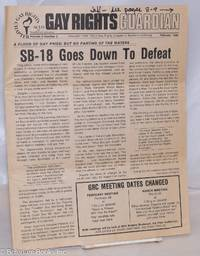 image of Gay Rights Guardian: vol. 5, #2, February 1980; SB-18 Goes Down to Defeat