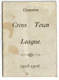 image of Original Cranston Rhode Island Cross Town League 1915-1916 Basketball  Schedule