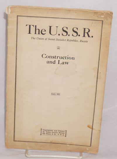 Elk Point, South Dakota: Union County Herald, 1931. , wraps worn, stained, creased, internal creasin...