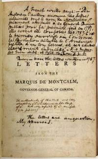 LETTERS FROM THE MARQUIS DE MONTCALM, GOVERNOR-GENERAL OF CANADA; TO MESSRS. DE BERRYER & DE MOLE, IN THE YEARS 1757, 1758, AND 1759. WITH AN ENGLISH TRANSLATION