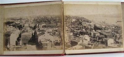 Istanbul, 1880. Oblong 8vo. (6 x 7 3/4 inches). 10 albumen photographs mounted on thick card and bou...
