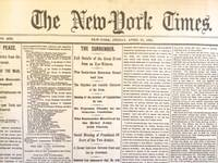 image of Key US Civil War Events: 10 New York Times Facsimile Nespapers 1861-1865