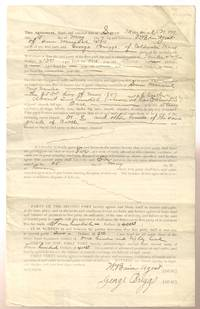1897 Cattle Sales Agreement for 180 Head San Marcial Socorro County New  Mexico