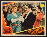 GOODBYE MR. CHIPS (Original 1939 Color Lobby Card SIGNED By Greer Garson)