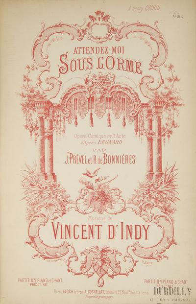 Paris: Enoch Frères & Costallat , 1882. Octavo. Dark blue cloth-backed plain green stiff wrappers. ...