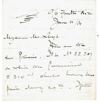 image of AUTOGRAPH LETTER regarding dividends on an insurance policy SIGNED BY HENRY C. POTTER Bishop of the Episcopal Diocese of New York known for his interest in social reform and politics.