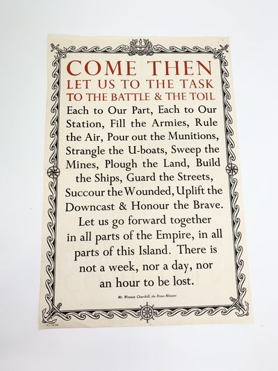 """""""Come Then, Let Us to the Task, to..."""