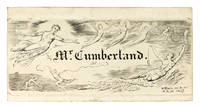 """Calling Card"" (sometimes called a bookplate) for George Cumberland."