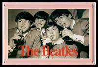 TIN PICTURE PLAQUE - The Beatles Drinking Coca Cola