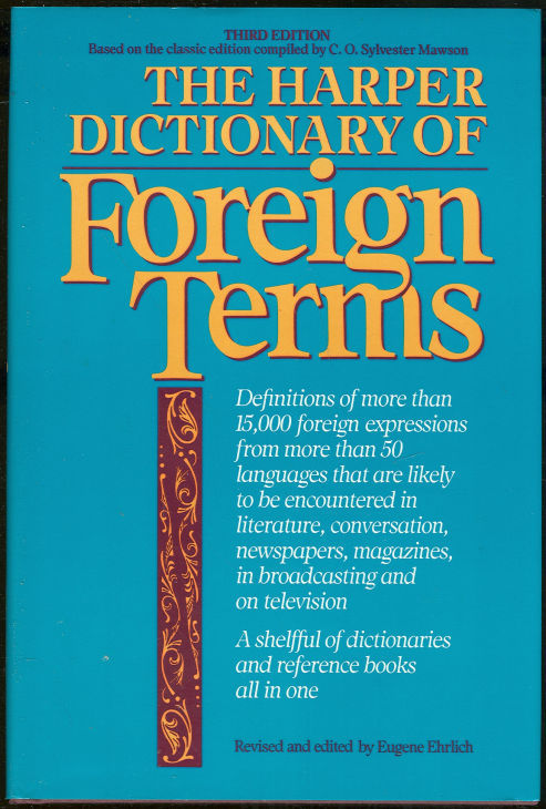 Image for HARPER DICTIONARY OF FOREIGN TERMS