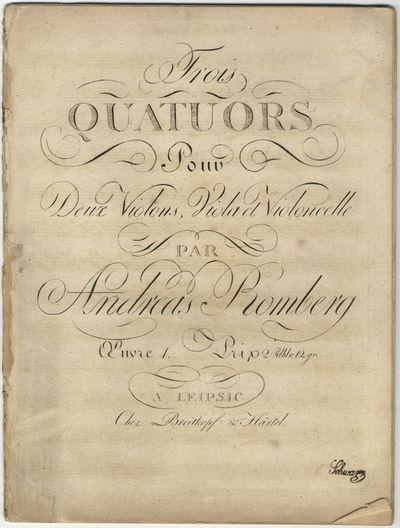 Leipsic: Breitkopf & Härtel , 1800. Folio. Violino primo part disbound; other parts sewn. Violino p...
