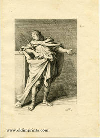 Untitled study of a gesturing male holding a paper scroll