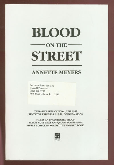 New York: Perfect Crime, 1992. Softcover. Fine. First edition, Uncorrected proof. Fine in wrappers.