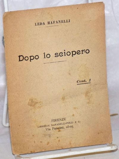 Firenze: Libreria Rafanelli-Polli, 1900. Pamphlet. 7p., wraps, 3.75x5.25 inches, evenly browned, lea...