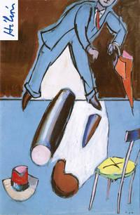 """Carton d'invitation au vernissage de l'exposition """"Hélion, peintures récentes, 1982-1983"""", 19 mai - 25 juin 1983 à la galerie Flinker portant sa signature autographe."""