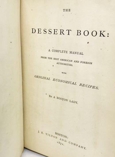 Boston: J. E. Tilton and Company, 1872. Hardcover. Cream oilcloth covers. Very good. 202 pages. 19.5...