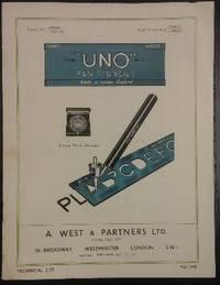 Uno Pen Stencils : Technical List no 146.