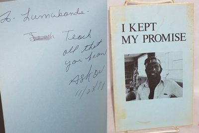 Oakland: the author, 1977. p., inscribed by the African America poet, revised edition, wraps slightl...