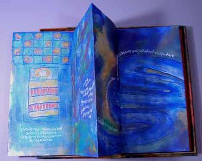 Pasadena MD, 2009. Unique artist's book, #3 in a series of 6, this on Arches Text Wove paper, signed...