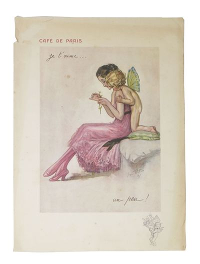 Paris: Atelier Georges Redon, 1921. 1st Printing. White paper leaf, printed to recto and verso. Rect...