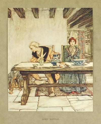 Single offset color print. London: Constable, 1919. Single offset color print, 5 x 6 inches, matted,...