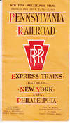BROCHURE - Pennsylvania Railroad Express Trains Between New York and Philadelphia Timetables with...