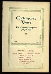 image of Contemporary Verse: April 1918