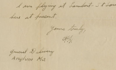 30/04/1925. Charles Lindbergh Acquired from the family and never before offered for saleIt also also...