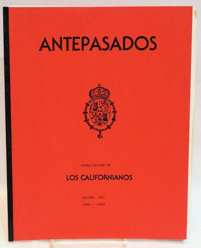 San Francisco: Los Californianos, 1989. v, 85p. 8.5x11 inches, illustrated with photos, very good ve...