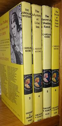 Nancy Drew Mystery Stories set, books 3-6, c. 1974 (The Bungalow Mystery, The Mystery at Lilac Inn, The Secret of Shadow Ranch, The Secret of Red Gate Farm)