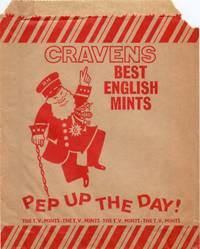 Cravens Best English Mints Paper Candy Bag Circa 1960 Scarce