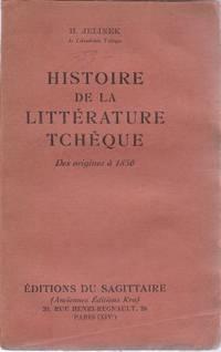 Histoire de la littérature tchèque des origines à 1850, cinquième...