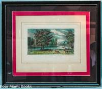 FRAMED HAND-COLORED ENGRAVING OF THE SCHUYLKILL VALLEY BY AUGUSTUS KOLLNER,