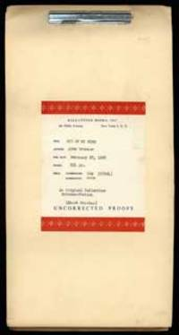 New York: Ballantine Books, 1967. Tall octavo, original unprinted cream wrappers, sheets secured in ...
