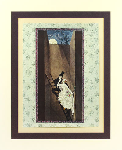 London: Hodder and Stoughton, Ltd., 1924. Single offset color print, 4 x 7 inches, matted. Fine. § ...