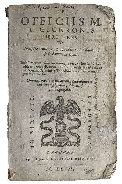 Lugduni :: Apud Haeredes Gulielmi Rovillii, 1608., 1608. Small 8vo. 288, pp. Woodcut printer's devic...