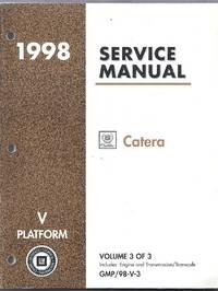 1998 Cadillac Catera Service Manual. (V Platform)  Volume 3 of 3 GMP/98-V-3