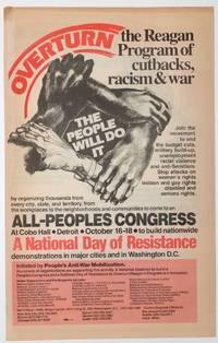 image of Overturn the Reagan program of cutbacks, racism and war. The people will do it [poster]