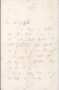 image of Autograph Letter Signed to Mr Griffiths (Benjamin, 1817-1893, from 1855 Regius Professor of Greek, from 1870 Master of Balliol College, Oxford)