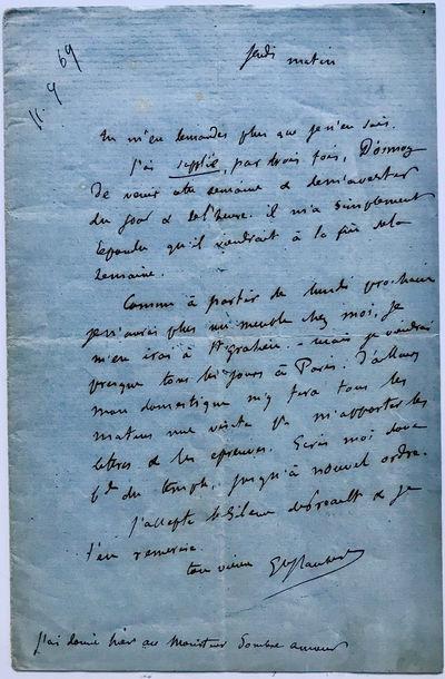 Flaubert Mentions his Close Friend,...