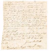 1777 Dorchester Heights Ma letter from Haskell inquiring of Jonas Hartsell of Lincoln whether he will tarry in the service for the month of march during the Revolutionary War