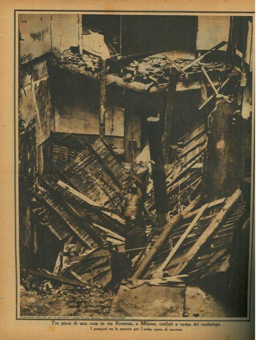 Tre piani di una casa in via ravecca a milano crollati a for Piani di casa del mississippi