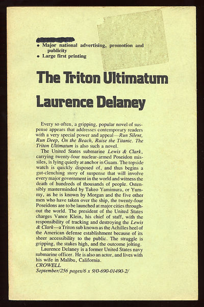 New York: Thomas Y. Crowell, 1977. Softcover. Very Good. First edition, Uncorrected proof. Very good...