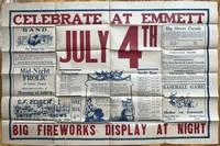 Celebrate at Emmett July 4th. Big Fireworks Display at Night [caption title]
